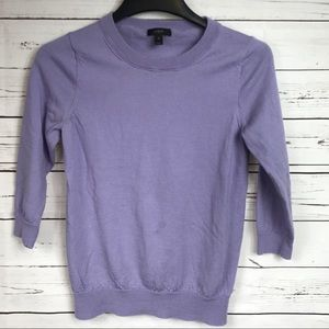 J. Crew Pull Over Sweater Purple GUC Size M